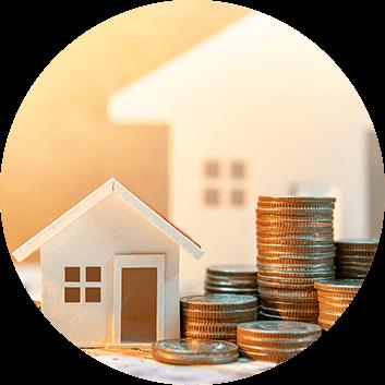 Pieniądze i makiety nieruchomości